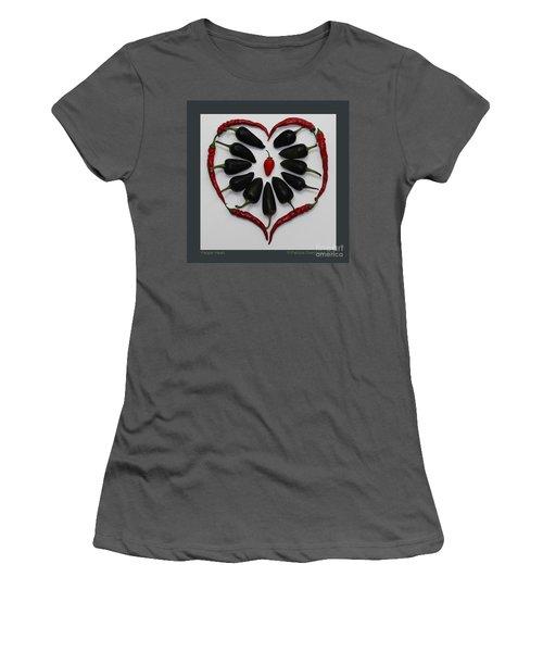 Pepper Heart Women's T-Shirt (Athletic Fit)