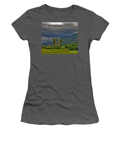 Women's T-Shirt (Junior Cut) featuring the photograph Petes Trees by Sam Rosen