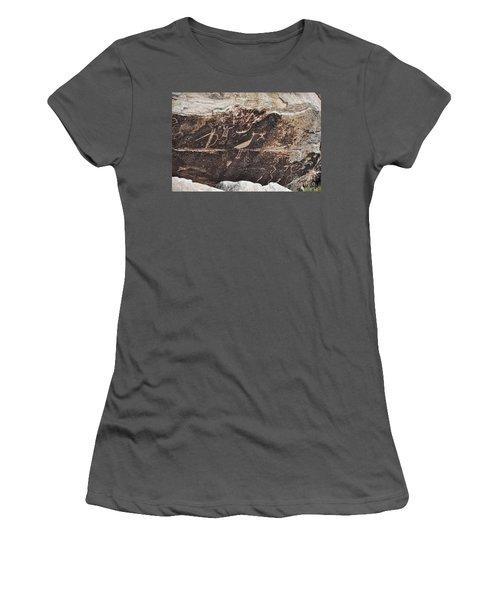 Petroglyph Bird Women's T-Shirt (Athletic Fit)