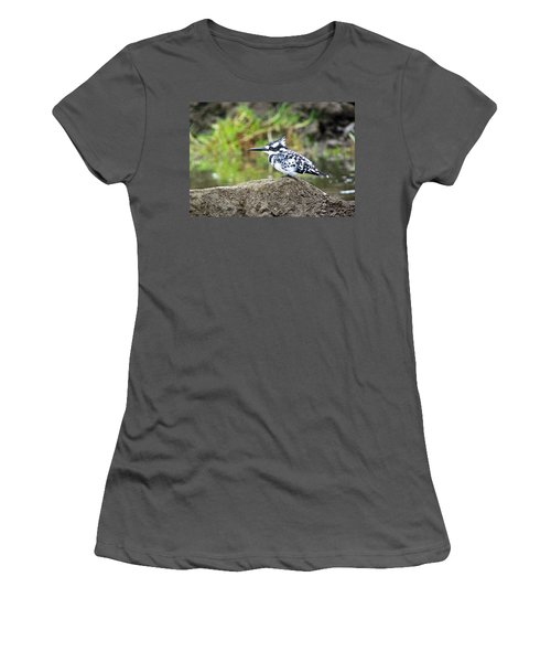 Pied Kingfisher Women's T-Shirt (Athletic Fit)