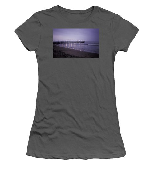 Pier At Dusk Women's T-Shirt (Athletic Fit)