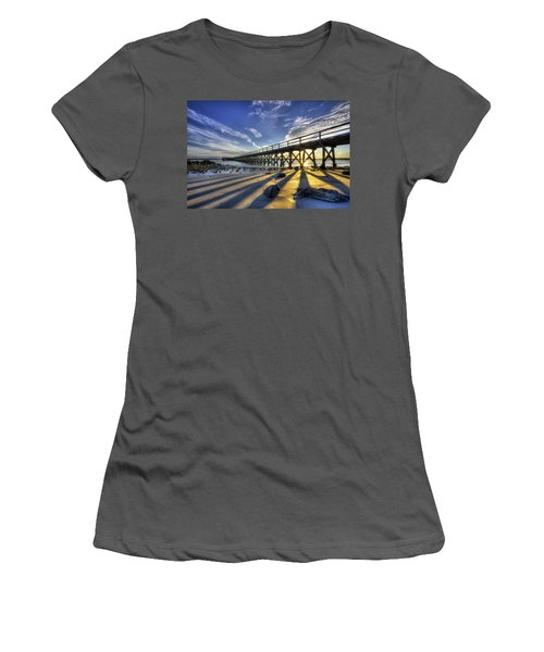 Pier At Sunset Women's T-Shirt (Athletic Fit)
