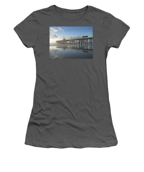 Pier Reflection Women's T-Shirt (Athletic Fit)