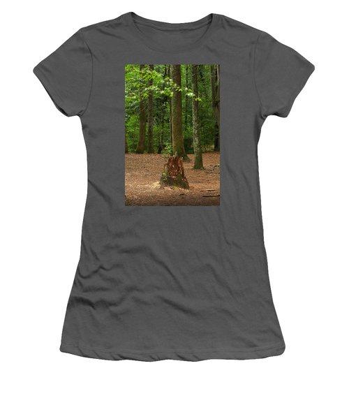 Pine Stump Women's T-Shirt (Athletic Fit)