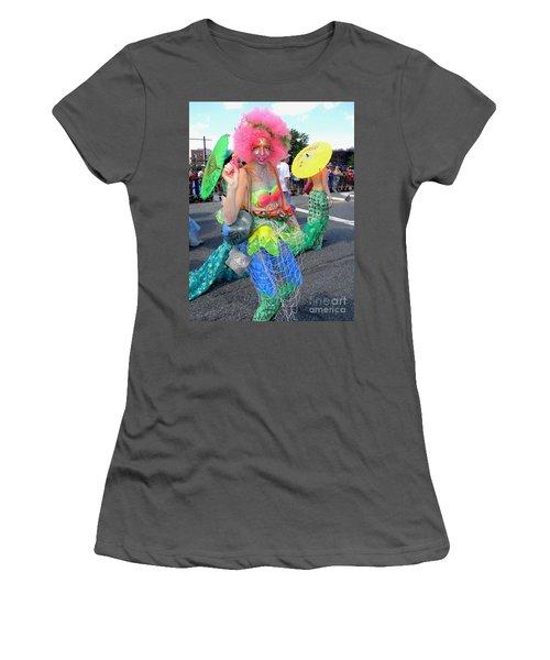 Women's T-Shirt (Junior Cut) featuring the photograph Pink Afro by Ed Weidman
