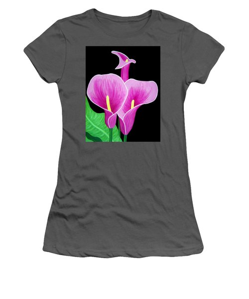 Pink Calla Lillies 2 Women's T-Shirt (Athletic Fit)