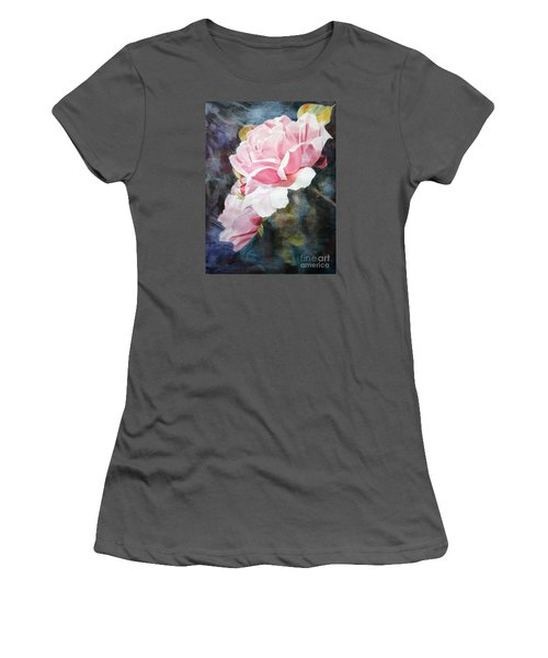 Pink Rose Caroline Women's T-Shirt (Junior Cut) by Greta Corens