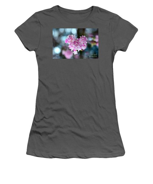 Pink Spring Heart Women's T-Shirt (Junior Cut) by Sabine Jacobs