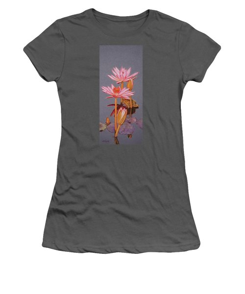 Pink Water Lilies Women's T-Shirt (Athletic Fit)