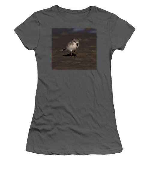 Piping Plover Photo Women's T-Shirt (Athletic Fit)