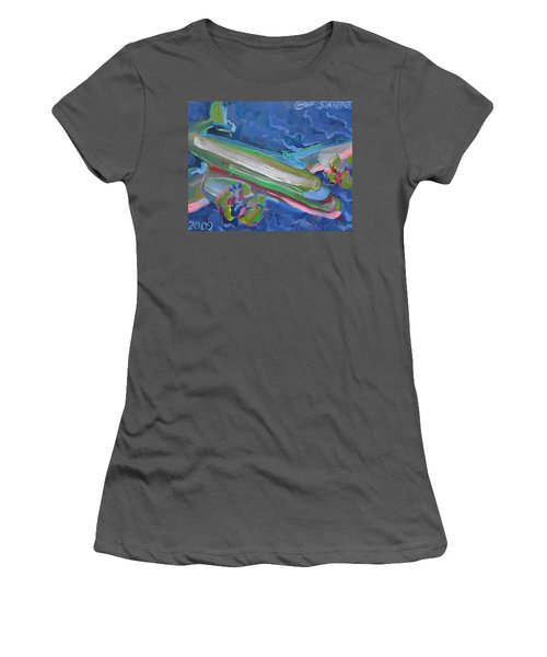 Plane Colorful Women's T-Shirt (Athletic Fit)
