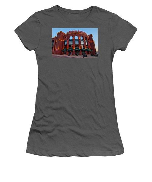 Play Ball Women's T-Shirt (Junior Cut) by Steve Stuller