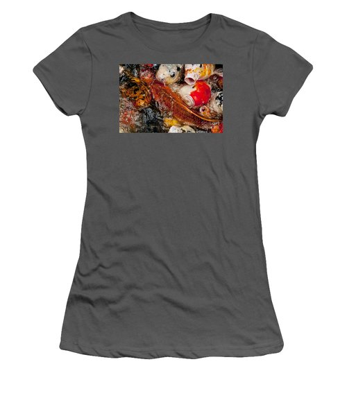Women's T-Shirt (Junior Cut) featuring the photograph Please Feed Us  by Wilma  Birdwell