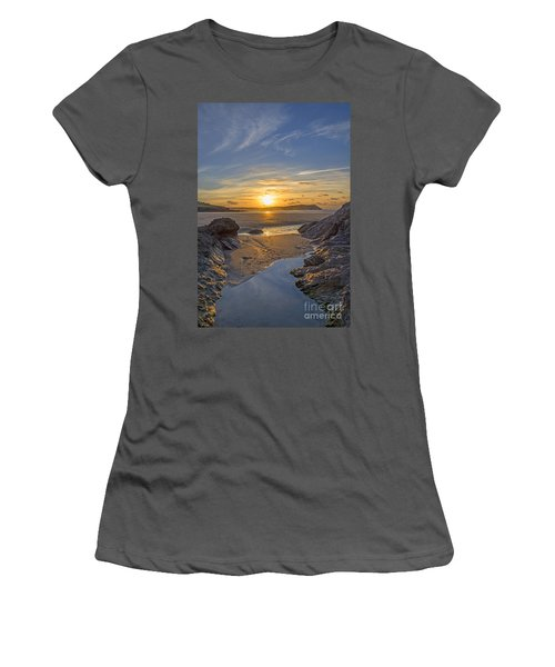 Polzeath Sunset Women's T-Shirt (Athletic Fit)