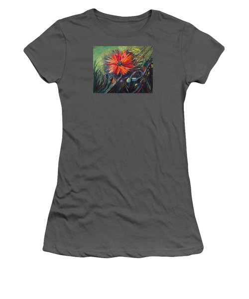 Poppin' Poppies Women's T-Shirt (Athletic Fit)
