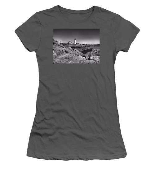 Portland Head Light Women's T-Shirt (Junior Cut) by Elizabeth Dow