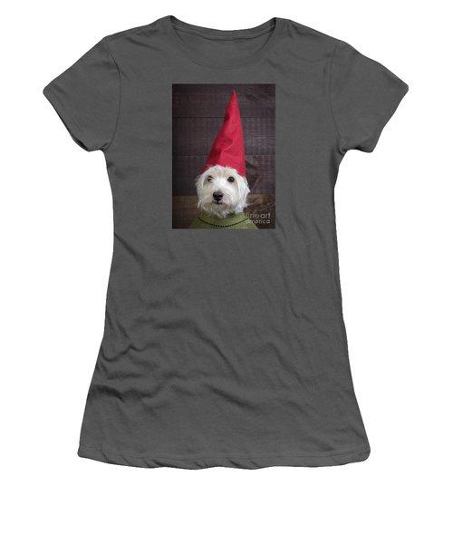 Portrait Of A Garden Gnome Women's T-Shirt (Athletic Fit)