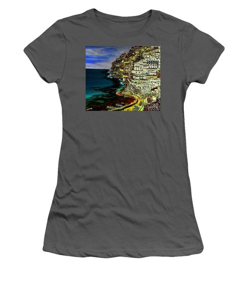 Positano At Night Women's T-Shirt (Athletic Fit)