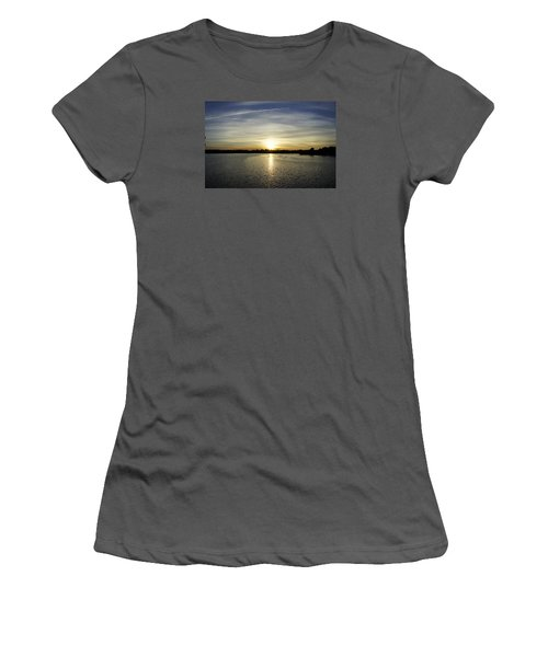 Potomac Sunset Women's T-Shirt (Junior Cut) by Laurie Perry