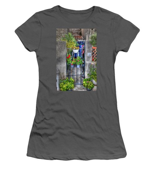 Women's T-Shirt (Junior Cut) featuring the photograph Pots Perouge France by Tom Prendergast