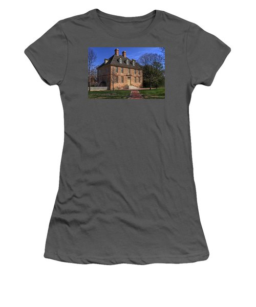 Women's T-Shirt (Junior Cut) featuring the photograph President's House College Of William And Mary by Jerry Gammon