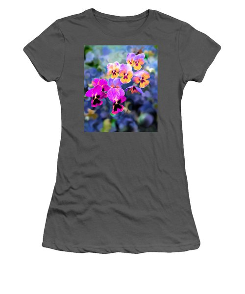 Pretty Pansies 3 Women's T-Shirt (Athletic Fit)