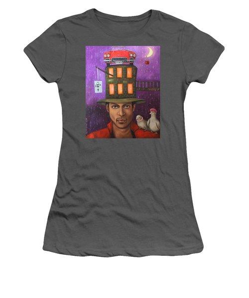 Prince Women's T-Shirt (Junior Cut) by Leah Saulnier The Painting Maniac