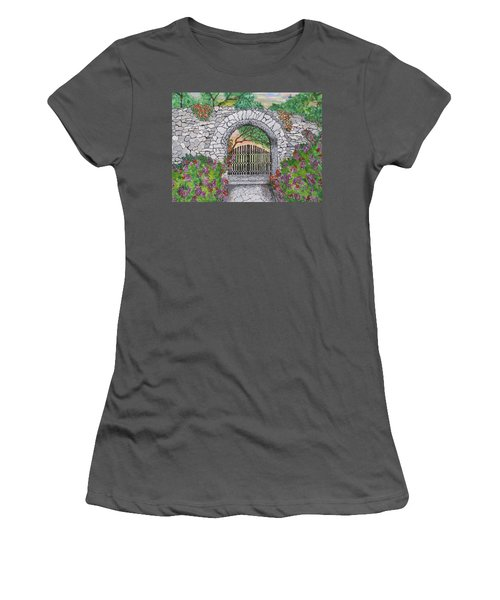 Private Garden At Sunset Women's T-Shirt (Athletic Fit)