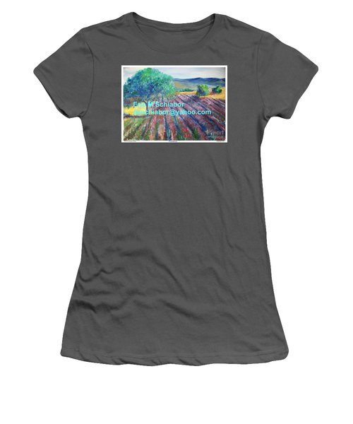 Provence Lavender Field Women's T-Shirt (Athletic Fit)