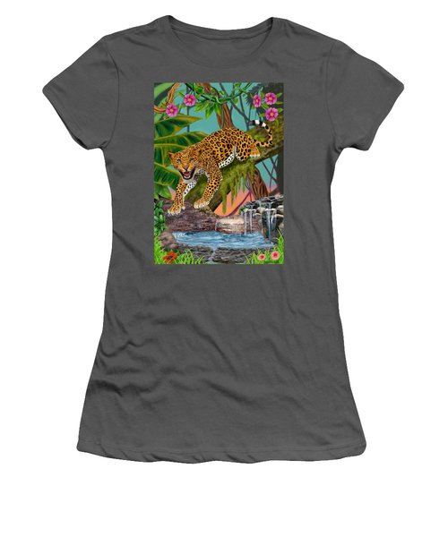 Prowling Leopard Women's T-Shirt (Junior Cut) by Glenn Holbrook