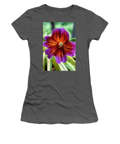 Purple And Orange Women's T-Shirt (Athletic Fit)