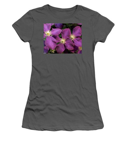 Purple Clematis Women's T-Shirt (Athletic Fit)
