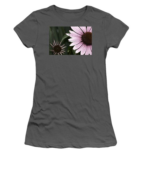 Purple Coneflower Imperfection Women's T-Shirt (Athletic Fit)