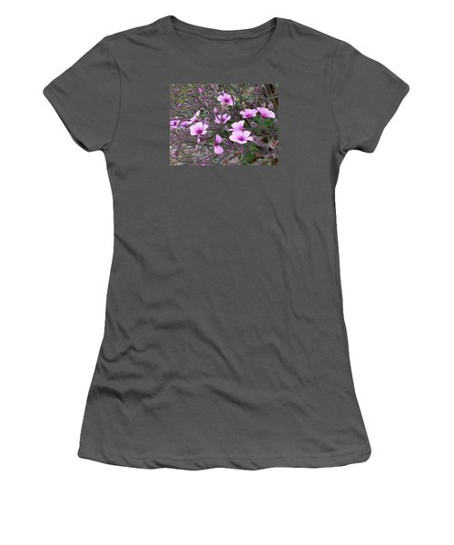 Women's T-Shirt (Junior Cut) featuring the photograph Purple Flowers by Jasna Gopic