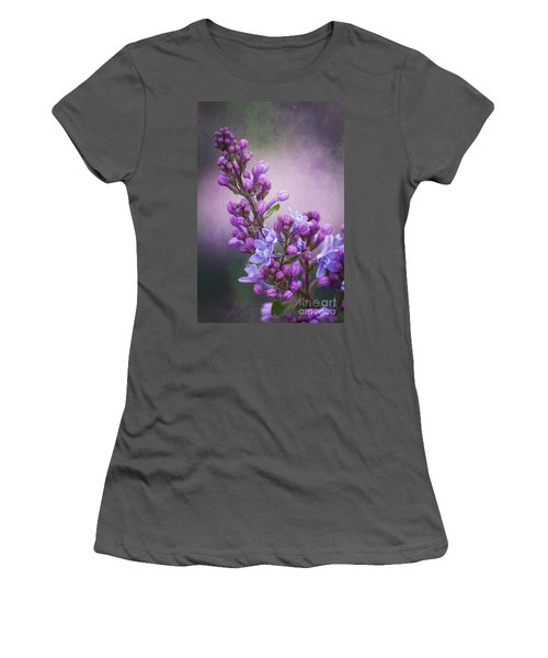 Purple Lilacs Women's T-Shirt (Athletic Fit)