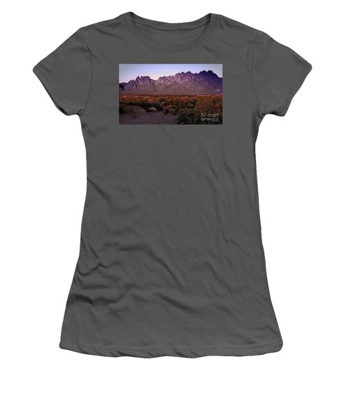 Women's T-Shirt (Junior Cut) featuring the photograph Purple Mountain Majesty by Barbara Chichester