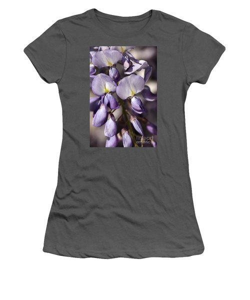 Women's T-Shirt (Junior Cut) featuring the photograph Purple Of Wisteria by Joy Watson
