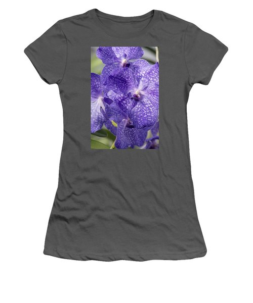 Purple Orchids Women's T-Shirt (Athletic Fit)