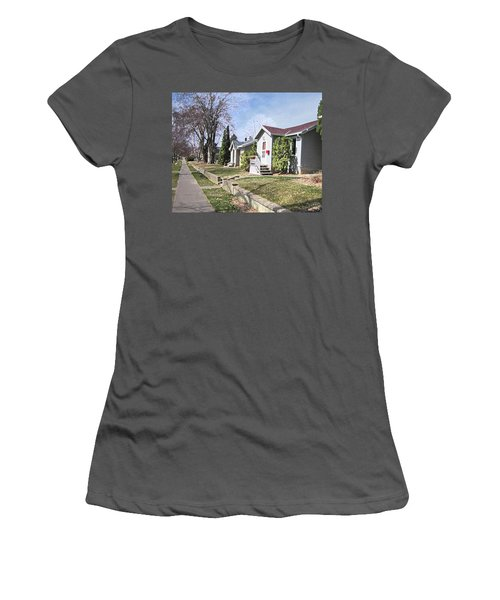 Quiet Street Waiting For Spring Women's T-Shirt (Junior Cut) by Donald S Hall
