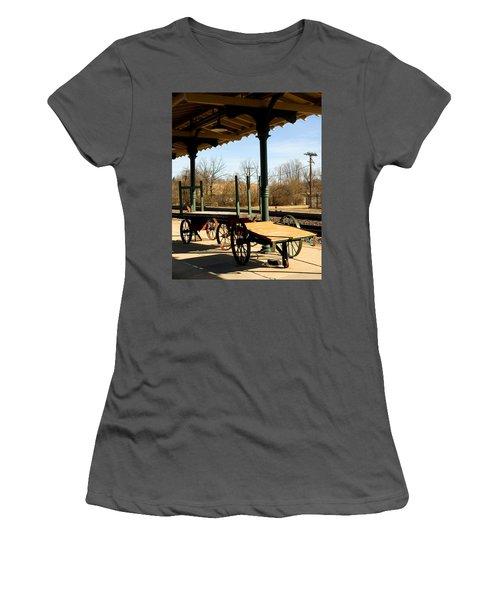 Railroad Wagons Women's T-Shirt (Athletic Fit)