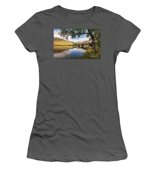 Railway Viaduct Over River Orchy Women's T-Shirt (Athletic Fit)