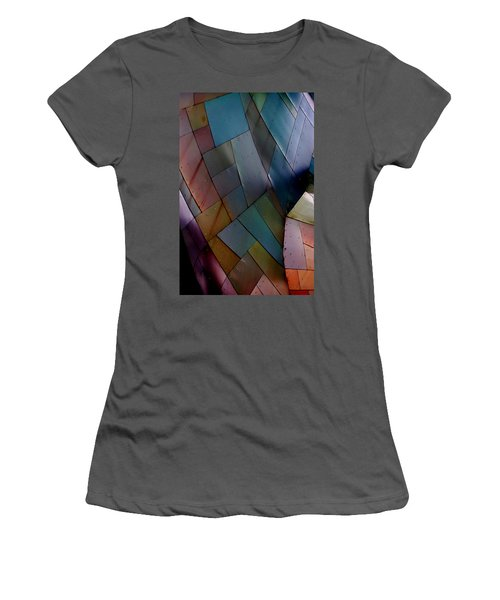 Rainbow Shingles Women's T-Shirt (Athletic Fit)