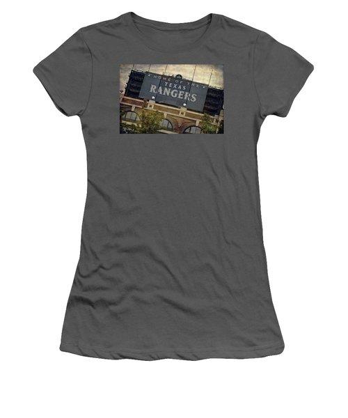 Rangers Ballpark In Arlington Color Women's T-Shirt (Athletic Fit)