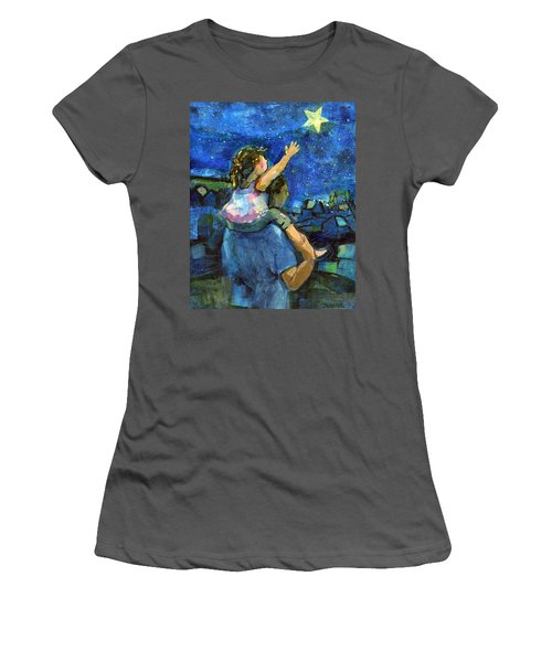 Reach For The Stars Women's T-Shirt (Athletic Fit)