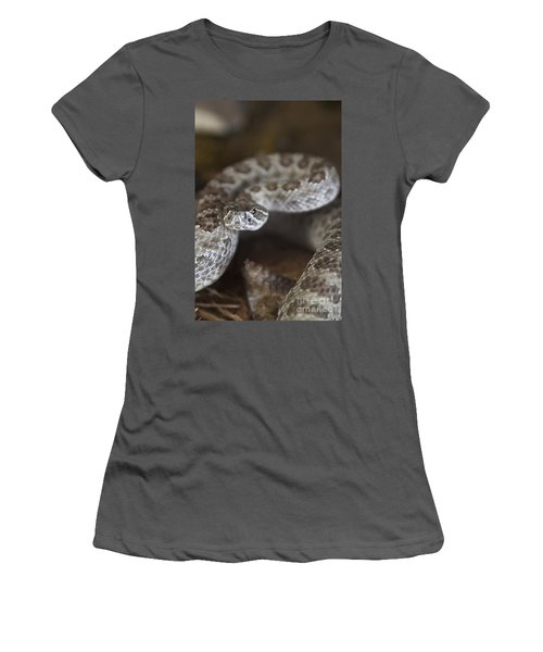 A Rattlesnake Thats Ready To Strike Women's T-Shirt (Athletic Fit)