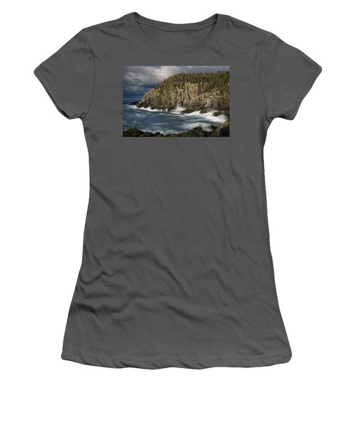 Women's T-Shirt (Junior Cut) featuring the photograph Receding Storm At Gulliver's Hole by Marty Saccone
