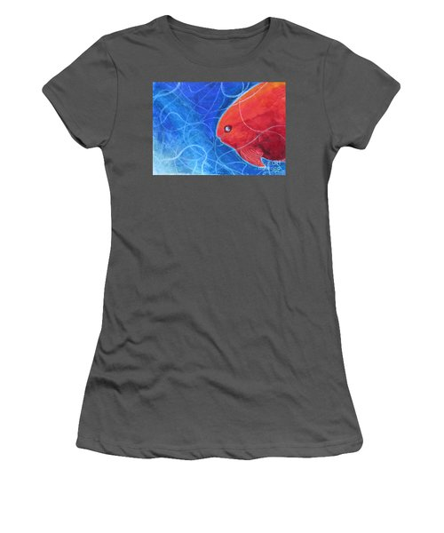 Red Fish Women's T-Shirt (Athletic Fit)