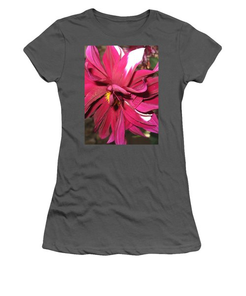 Red Flower In Bloom Women's T-Shirt (Athletic Fit)