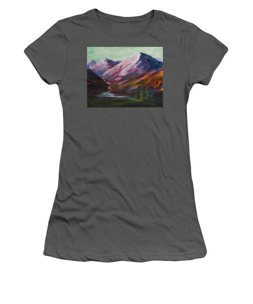 Red Mountain Surreal Mountain Lanscape Women's T-Shirt (Athletic Fit)
