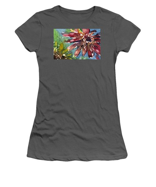 Red Sunflower Women's T-Shirt (Athletic Fit)